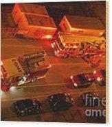 Emergency Response Wood Print