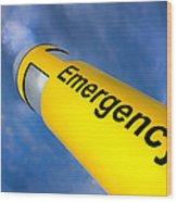 Emergency Wood Print