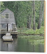 Emerson Boathouse Concord Massachusetts Wood Print by Amy Porter