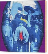 Emiliano Zapata In Group Portrait Xochimilco  Outside Of Mexico City 1914-2013 Wood Print