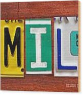 Emily License Plate Name Sign Fun Kid Room Decor Wood Print