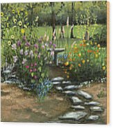 Emily's Garden Wood Print by Cecilia Brendel