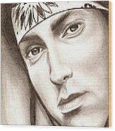 Eminem Wood Print by Michael Mestas