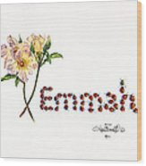 Emmah In Ladybugs Wood Print