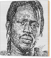 Emmanuel Jal Wood Print