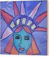Emma's Lady Liberty Wood Print