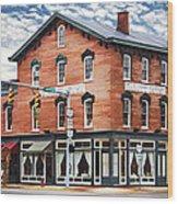 Emmitt House Corner Wood Print
