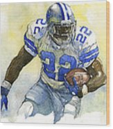 Emmitt Smith Wood Print by Michael  Pattison