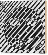 Emoticon So Very Funny Maze  Wood Print
