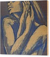 Emotional - Female Nude Portrait Wood Print