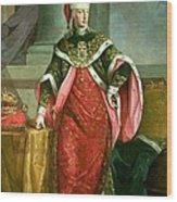 Emperor Francis I 1708-65 Holy Roman Emperor, Wearing The Official Robes Of The Order Of St. Stephan Wood Print
