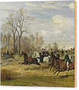 Emperor Franz Joseph I Of Austria Hunting To Hounds With The Countess Larisch In Silesia Wood Print