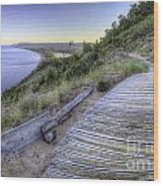 Empire Bluff In Sleeping Bear Dunes Wood Print by Twenty Two North Photography