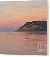 Empire Bluffs Sunset Wood Print