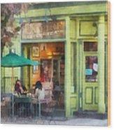 Hoboken Nj - Empire Coffee And Tea Wood Print