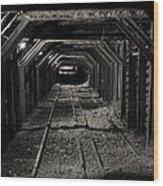 Empire Mine Shaft Wood Print