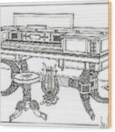 Empire Period Piano 1820 Wood Print