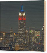 Empire State Building 911 Tribute Wood Print
