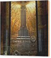 Empire State Building - Magnificent Lobby Wood Print