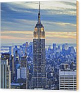 Empire State Building New York City Usa Wood Print