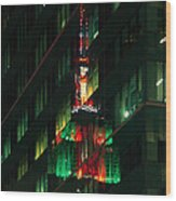 Empire State Building Reflection Wood Print