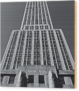 Empire State Building Rising II Wood Print