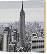 Empire State Wood Print by CD Kirven