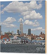 Empire State From The Water Wood Print