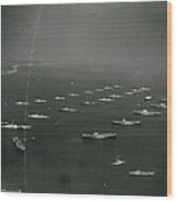 Empire�s Warships Line Up For The Coronation Review At Wood Print