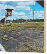 Employee Parking Lot Wood Print by MJ Olsen