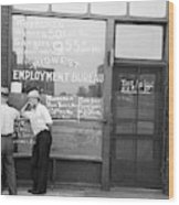 Employment Bureau, 1937 Wood Print