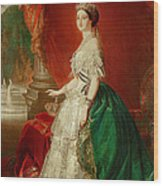 Empress Eugenie Of France 1826-1920 Wife Of Napoleon Bonaparte IIi 1808-73 Oil On Canvas Wood Print