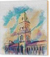 Empress Market Karachi Wood Print by Catf