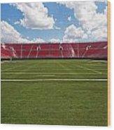 Empty American Football Stadium Wood Print
