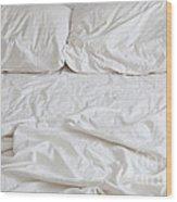 Empty Bed Wood Print