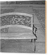 Empty Bench Wood Print by Stephanie Grooms