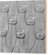 Empty Bottles Abstract Wood Print
