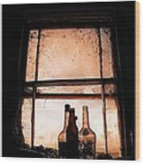 Empty Bottles Wood Print