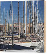 Empty Masts In Vieux Port Wood Print