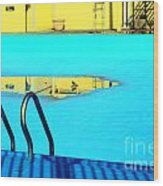 Empty Public Swimming Pool Bronx New York City Wood Print
