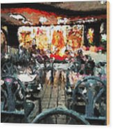 Empty Restaurant Wood Print