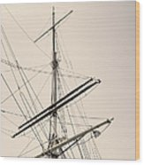 Empty Sails Wood Print
