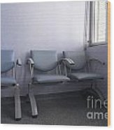Empty Seats In A Waiting Room Wood Print by Sami Sarkis