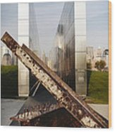 Empty Sky New Jersey September 11th Memorial Wood Print