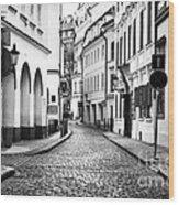 Empty Street In Prague Wood Print