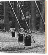 Empty Swings Wood Print