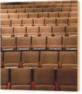 Empty Theater Chairs In Ventura Arts Wood Print