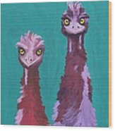 Emu Watch Wood Print