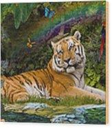 Enchaned Tigress Wood Print