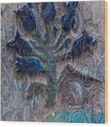 Enchanted Bluebells Wood Print